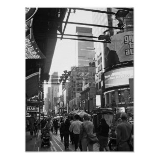 Poster Fotografia preto e branco do Times Square NYC