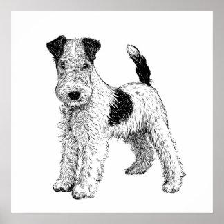 Poster Fox Terrier da arte do poster/parede do cão
