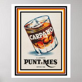 Poster francês 16 x 20 do anúncio do vintage de