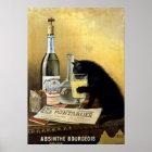 """Poster francês retro o """"absinto burguês """""""
