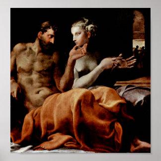 Poster Francesco Primaticcio - Odysseus e Penélope