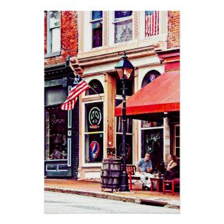 Pôster Fredericksburg VA - Café exterior