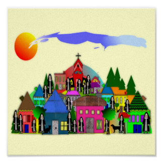 """Nuns of the Village""  Catholic Nun Art Gifts"