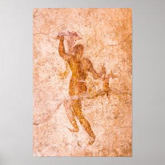 Poster - fresco romano, Pompeii antigo, Italia