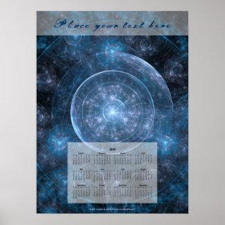 Pôster Fundo 001 do cosmos - calendário 2018