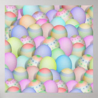 Poster Fundo colorido dos ovos da páscoa