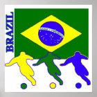 Pôster Futebol Brasil
