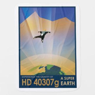 Poster futuro de Sci Fi do viagem da NASA - terra Manta Para Bebe