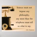 Pôster G.K. Citações de Chesterton