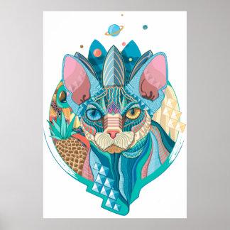 Poster Gato cósmico de Sphynx