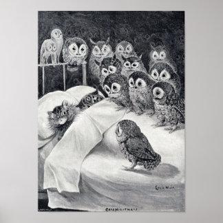 Poster Gatos pesadelo, Louis Wain
