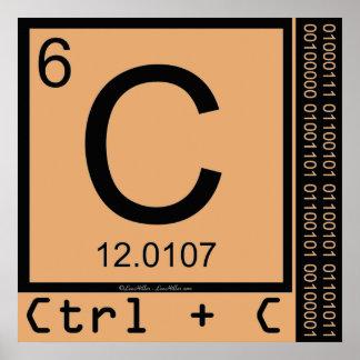 Pôster Geek mim! Cópia de carbono