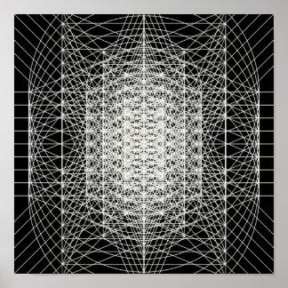 Poster Geometria sagrado de Interdimensional o Wormhole
