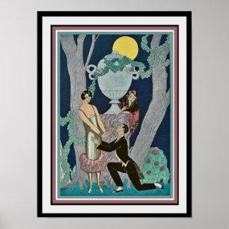 """Poster George Barbier """"impressão 16x20 do art deco da"""