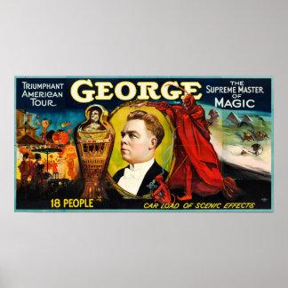 Poster George --Poster americano triunfante da excursão