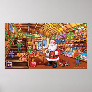 Poster gigante, mágica do divertimento do Natal da