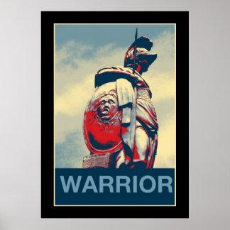 Pôster Gladiador romano do guerreiro espartano antigo de