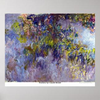 Poster Glicínias por Claude Monet