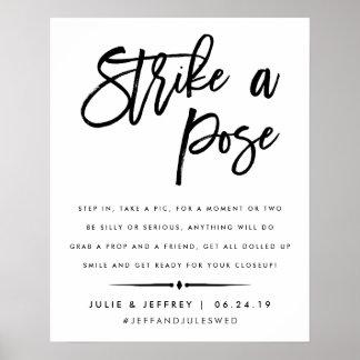 Poster Golpeie uma cabine Wedding da foto da pose |