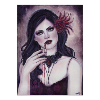 Poster gótico assombrado do vampiro por Renee