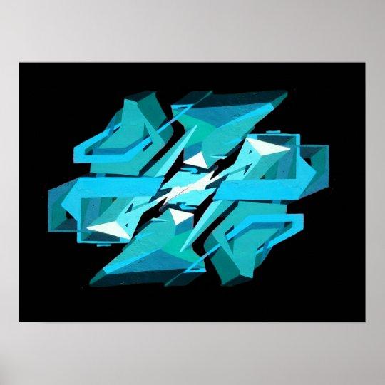 Poster Graffiti 3D