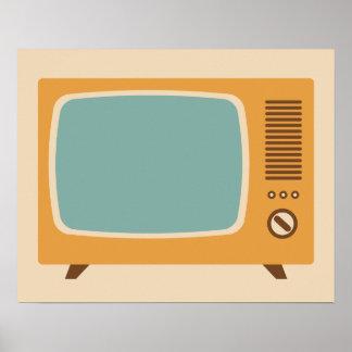 Poster Gráfico clássico do aparelho de televisão