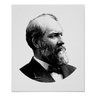 Pôster Gráfico do presidente James Garfield