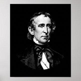 Pôster Gráfico do presidente John Tyler