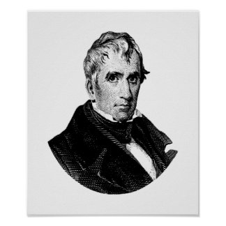 Pôster Gráfico do presidente William Henry Harrison