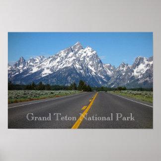 Poster grande do parque nacional de Teton