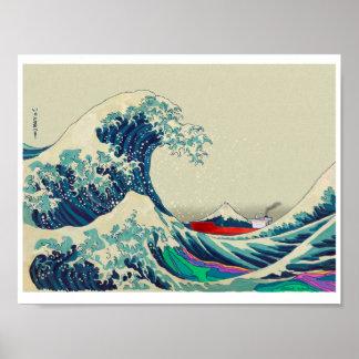 Pôster Grande onda fora de Kanagawa 2016