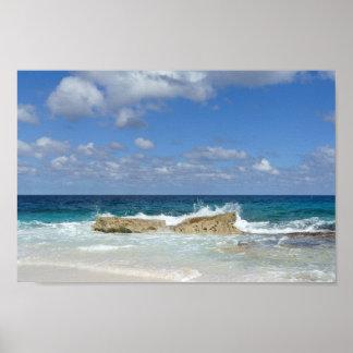 Pôster Grande praia do Cay de Guana, Bahamas