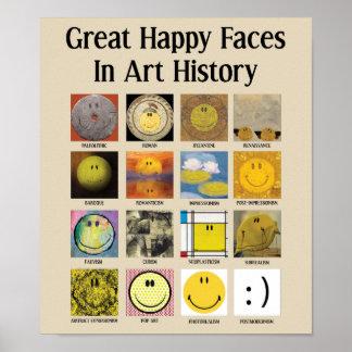 Poster Grandes caras felizes na história de arte