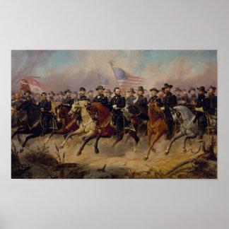 Pôster Grant e sua pintura dos generais