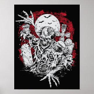Poster grave do zombi pôster