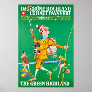 Poster Grüne Hochland do DAS, vert de Le Haut Pagar,