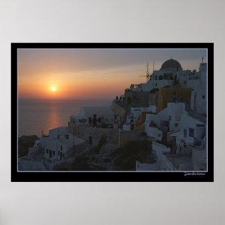 Poster Grupos de Sun em Santorini