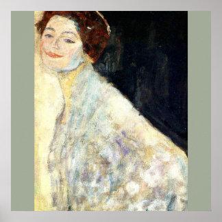 Poster Gustavo Klimt - retrato de uma senhora