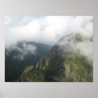 Poster havaiano da vista aérea