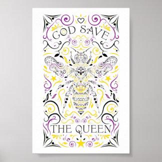 Poster hino nacional do Reino Unido