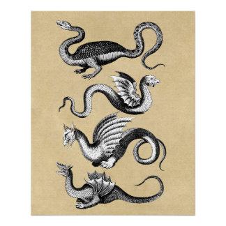 Pôster História da carta da parede dos dragões