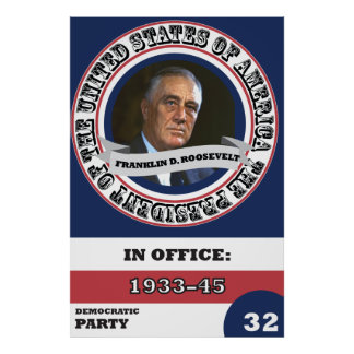 Poster História presidencial de Franklin D. Roosevelt