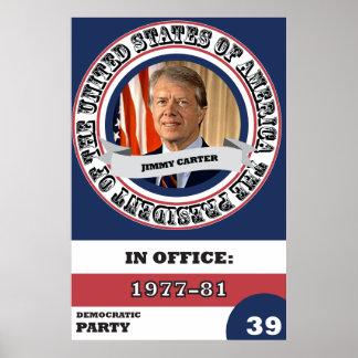 Pôster História presidencial de Jimmy Carter retro