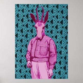 Pôster Homem de antílope
