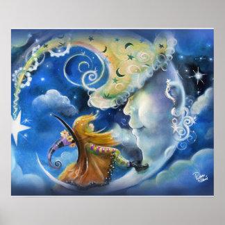 Poster Homem-em--Lua e bruxa