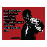 Poster Homem moderno de Chesterton