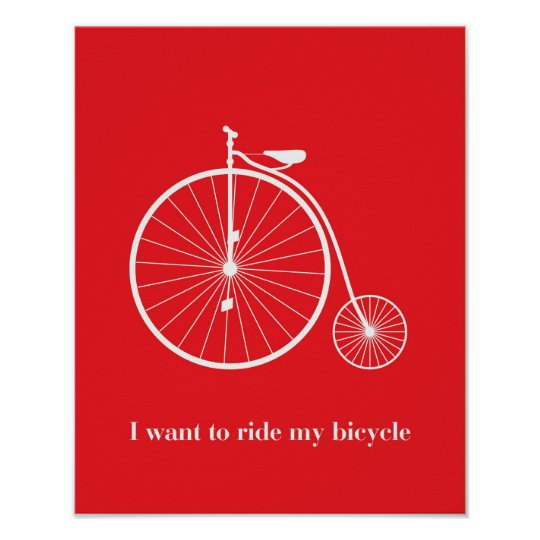 Poster I want ride my bicycle