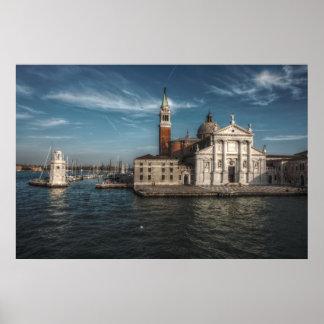 Pôster Igreja Veneza Italia de San Giorgio Maggiore