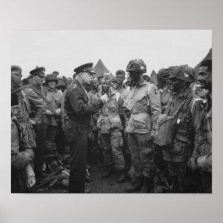 Poster Ike que fala com o transportado por via aérea no