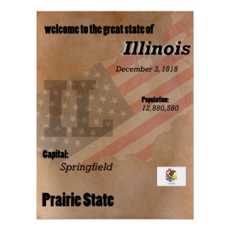 Pôster Illinois o clássico do estado da pradaria